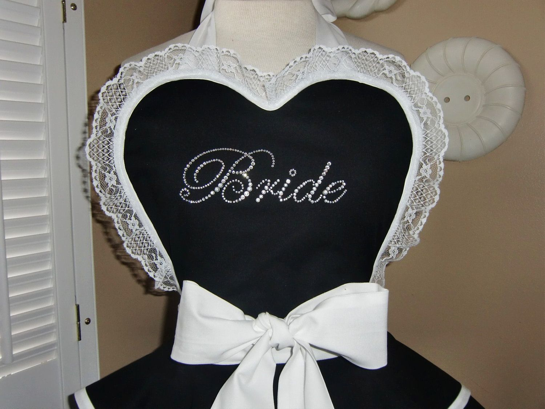 Bridal ApronWomans Retro Apron Featuring Custom by mamamadison, $85.00