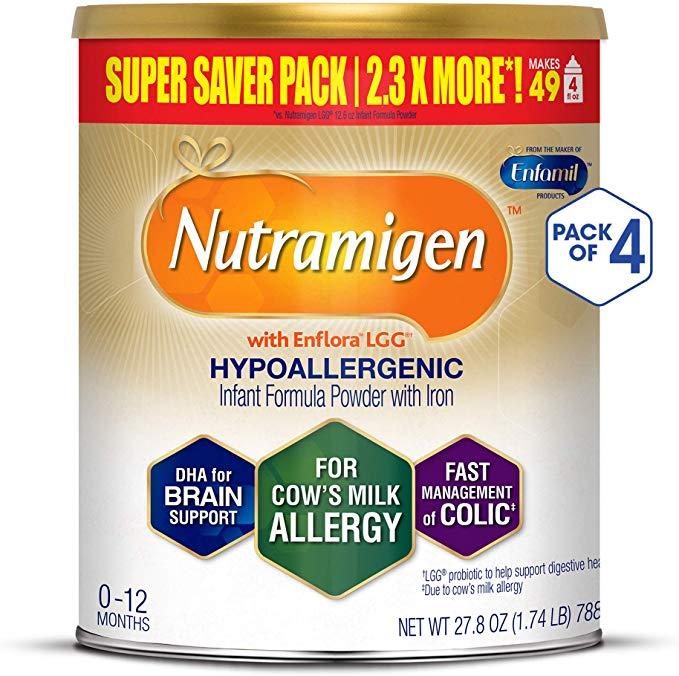 Enfamil Nutramigen Hypoallergenic Colic Baby Formula Lactose Free Milk Powder 27 8 Ounce Pack Of 4 Omega 3 Dha Lgg P Lactose Free Milk Colic Baby Free Formula Samples