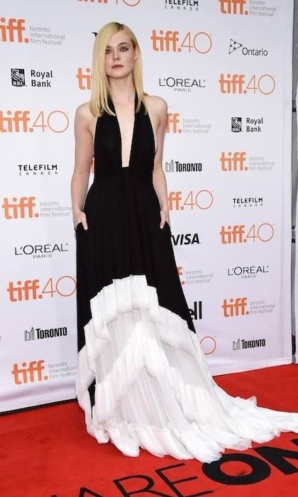 Elle Fanning in Emilio Pucci at the premiere of Trumbo at the Toronto International Film Festival
