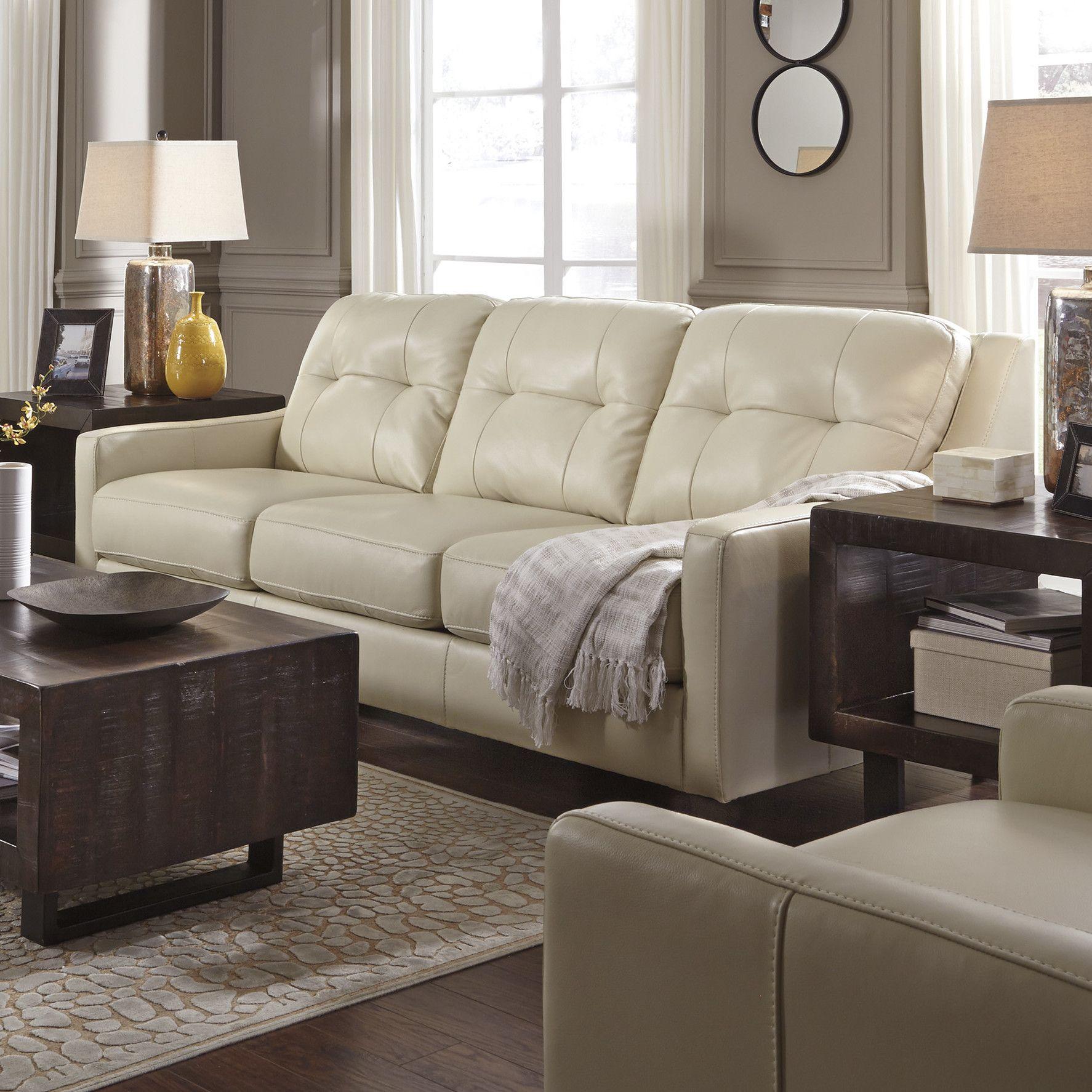 Wellston Leather Queen Sleeper Sofa