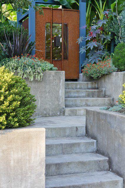 23 Creative Ideas Of Traditional Outdoor Front Entry Steps Modern Landscaping Concrete Garden Garden Steps