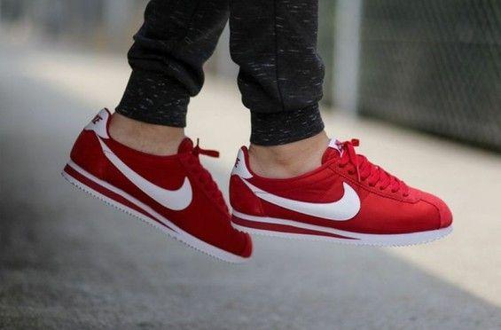 super popular 69f72 efef1 Nike Classic Cortez Nylon Gym Red 4