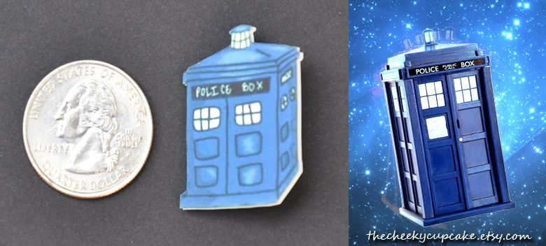 tardis pin for sale on etsy