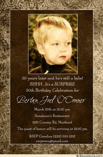 Suprise 5oth Birthday Invitation For Men