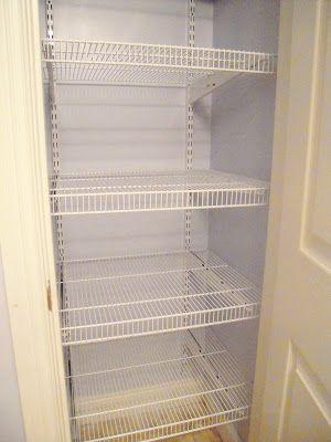 My Cottage Charm: How to install wire shelving- Boys Bathroom Closet Organization! Treasures & Trinkets