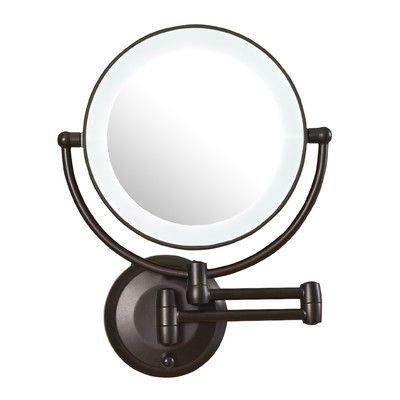 Dowry Led Lighted 10x Magnifying Makeup Mirror With Plug 8inch Polished Oil Rubbed Bronze Finished Dowry1809do 8x Shaving Mirror Makeup Mirror Cosmetic Mirror