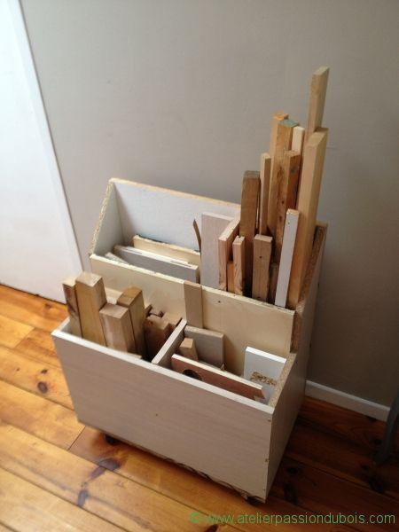 rangement mobile chute bois rangement pinterest rangement bois et atelier. Black Bedroom Furniture Sets. Home Design Ideas
