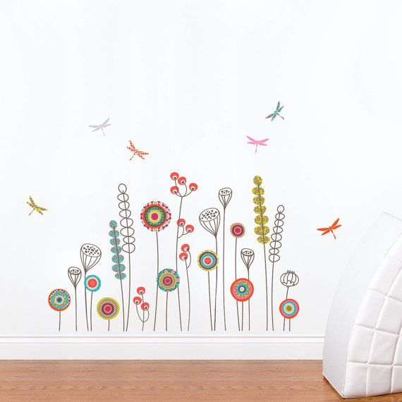 Garden kid wall decal murale peintures murales et jardins