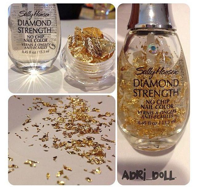 Glitter Nail Polish Make Your Own: Make Your Own Gold Foil Nail Polish!