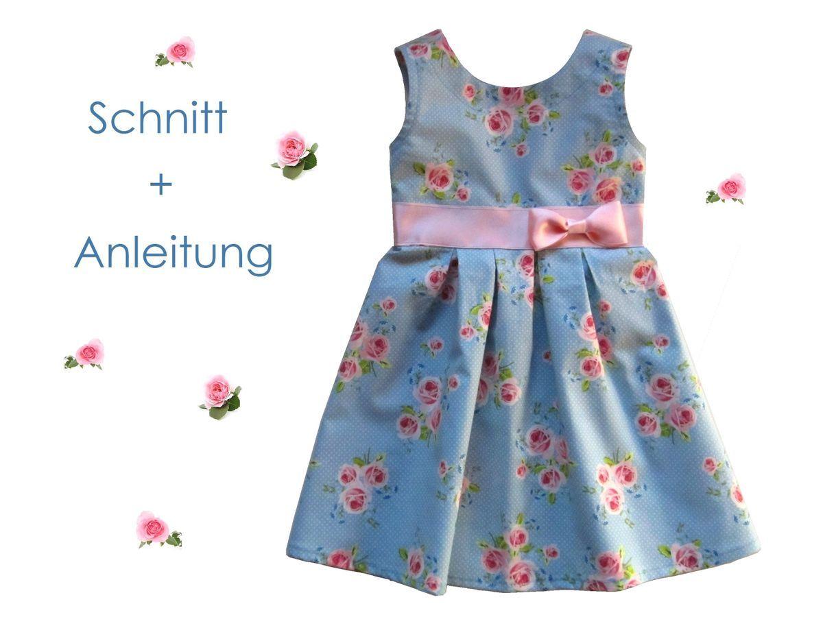 Kostenlos schnittmuster kinderkleider Kinderkleid Schnittmuster