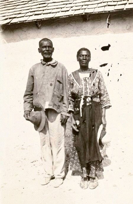 black seminole indian scout renty grayson and his wife