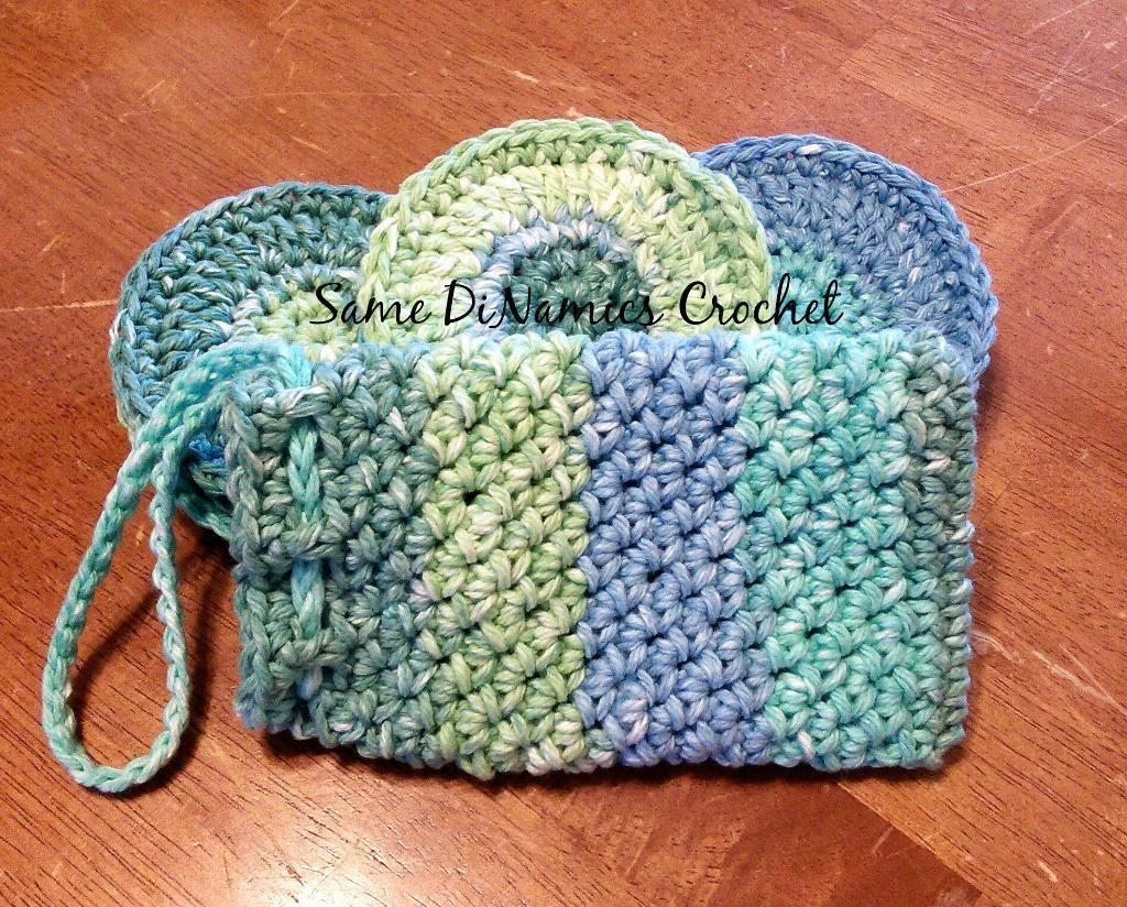 Free Crochet Face Scrubbies & Soap Pouch