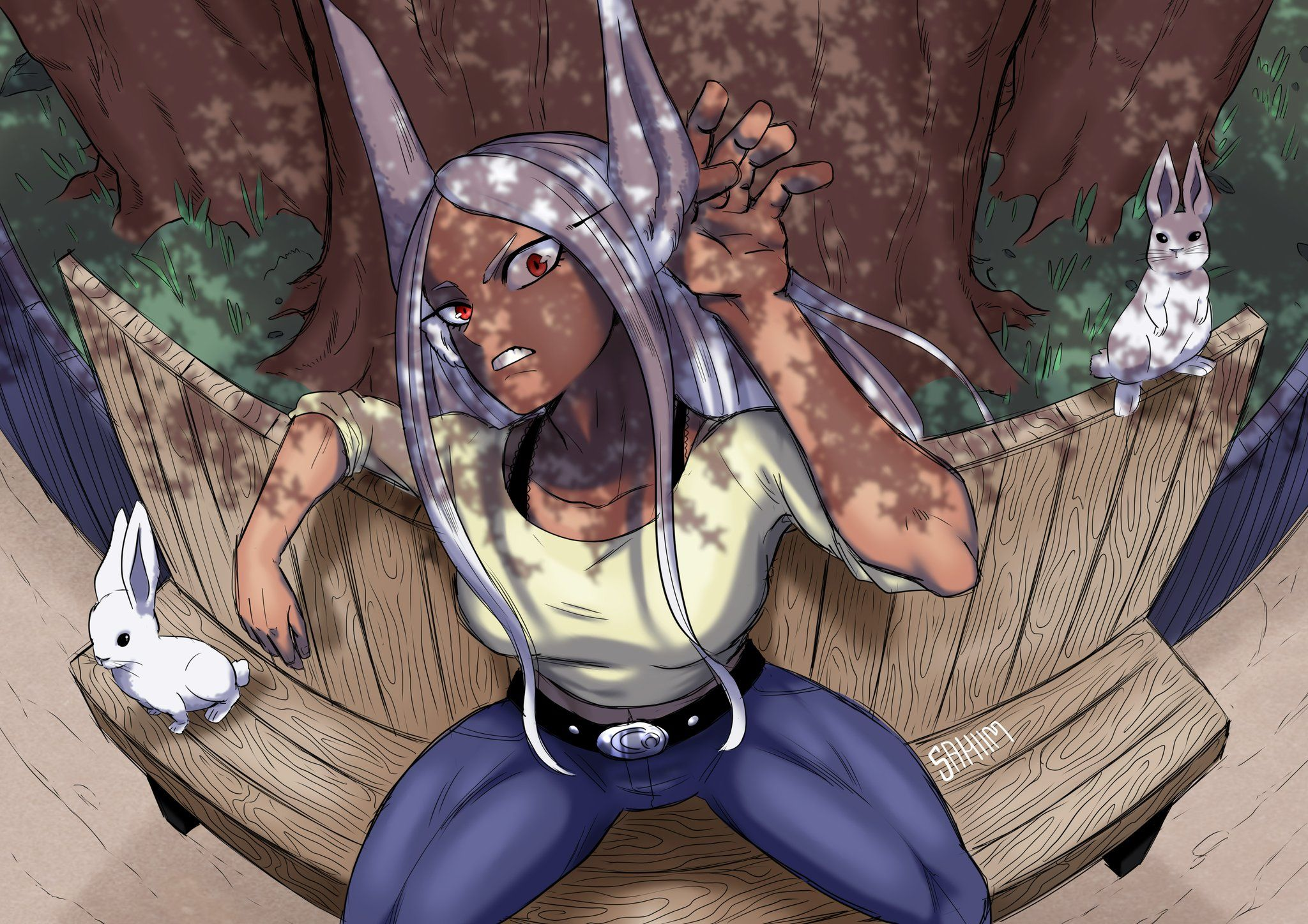 My Hero Academia Rumi Usagiyama Mirko By Al Sahim Hero My Hero Academia Female Hero