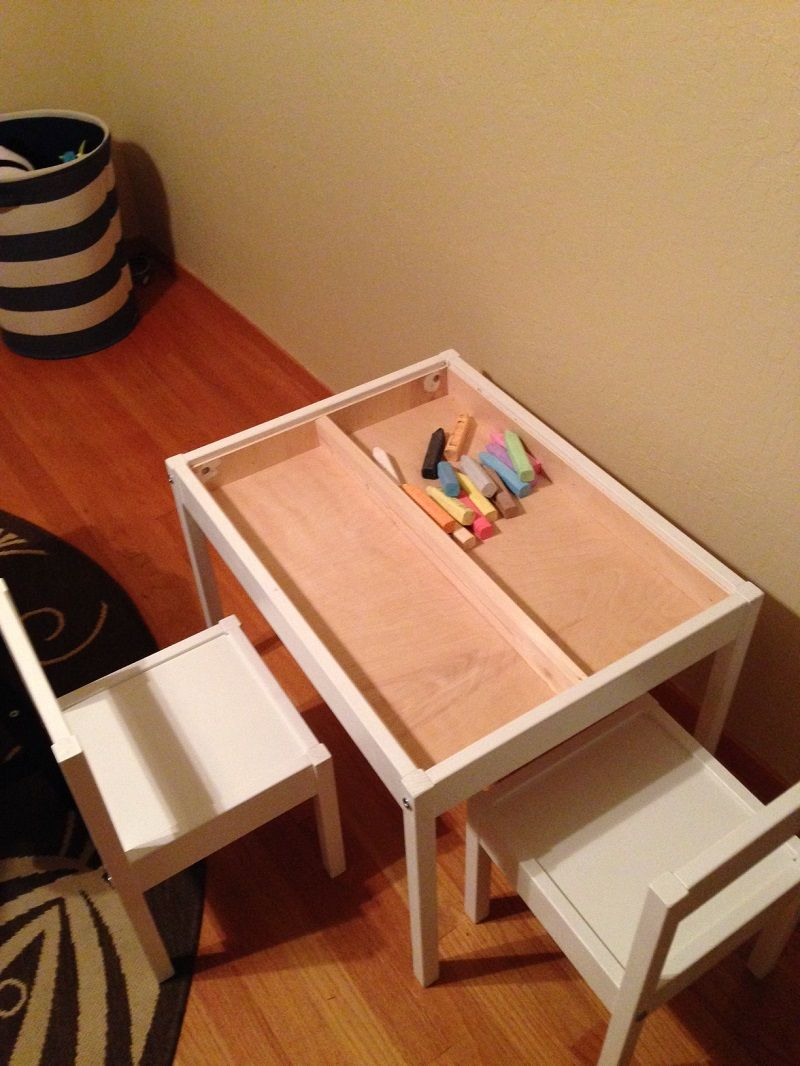 Latt Compartment And Reversible Table Top Hack Ikea Kids Table