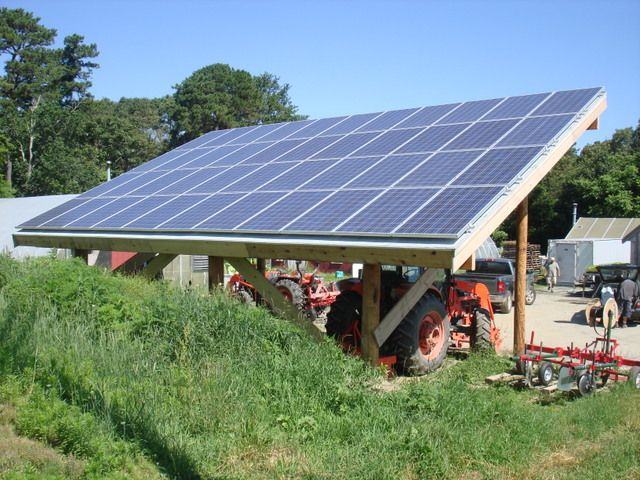 A Tractor Shed We Built That Provides Power To Cape Cod