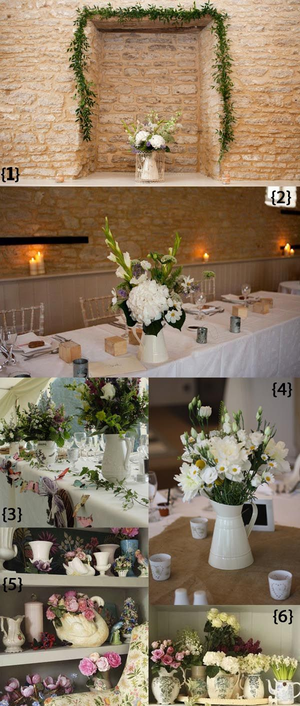 Wedding decorations to make  Wedding Table Decorations  cream jugs  available from