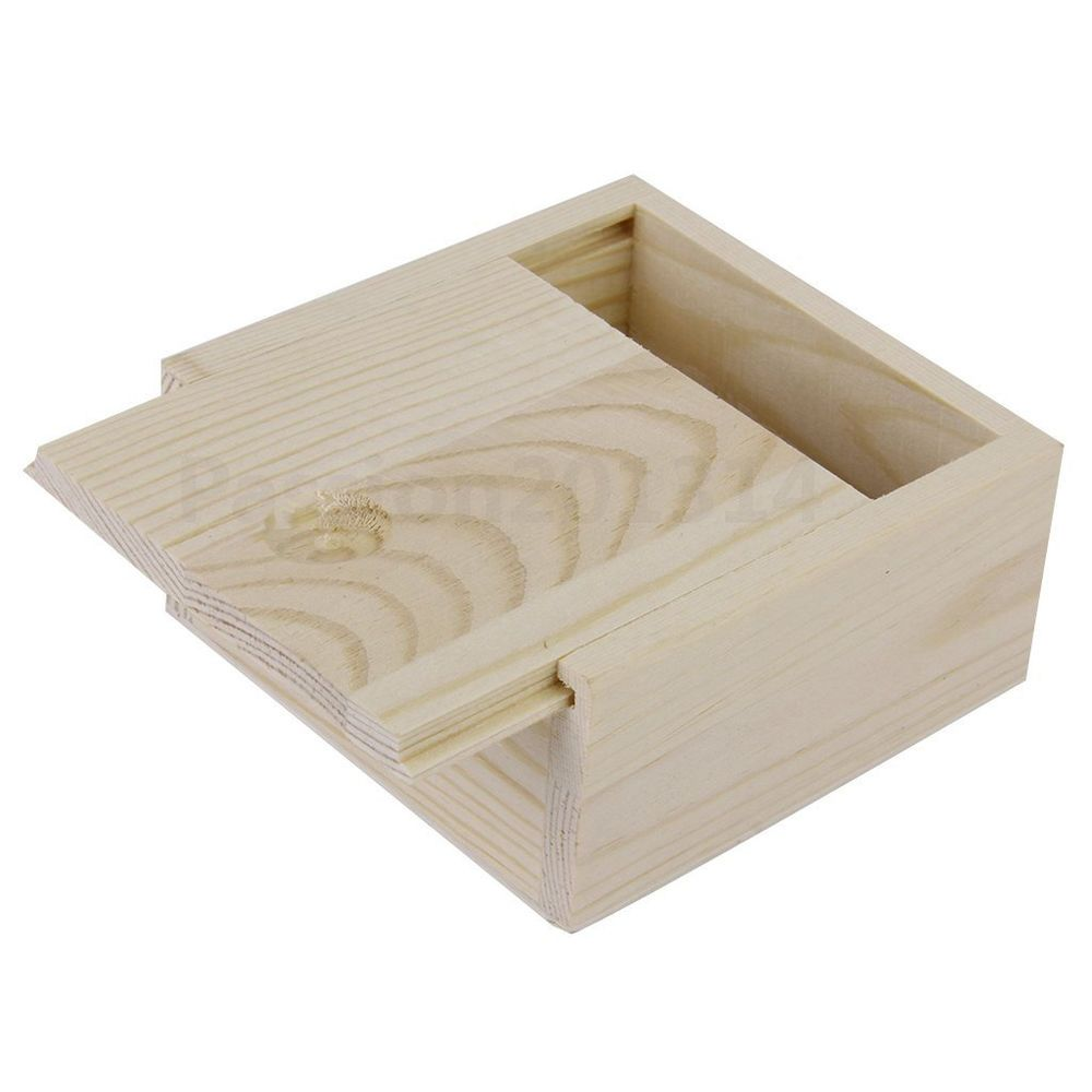 Details About New Small Plain Wooden Case Storage Box For Jewellery Small Gadgets Gift Wood Wooden Storage Wooden Storage Boxes Wooden Boxes