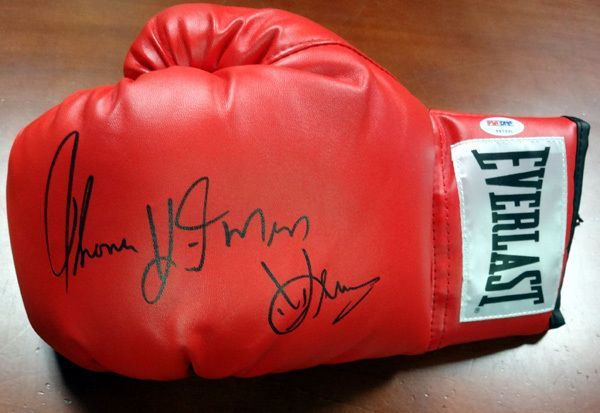 Thomas Hitman Hearns Autographed Red Everlast Boxing Glove Lh Psa Dna Everlast Boxing Gloves Everlast Boxing Gloves