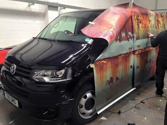VW Rust Wrap | Automotive | New vw van, Rusty cars, Car wrap