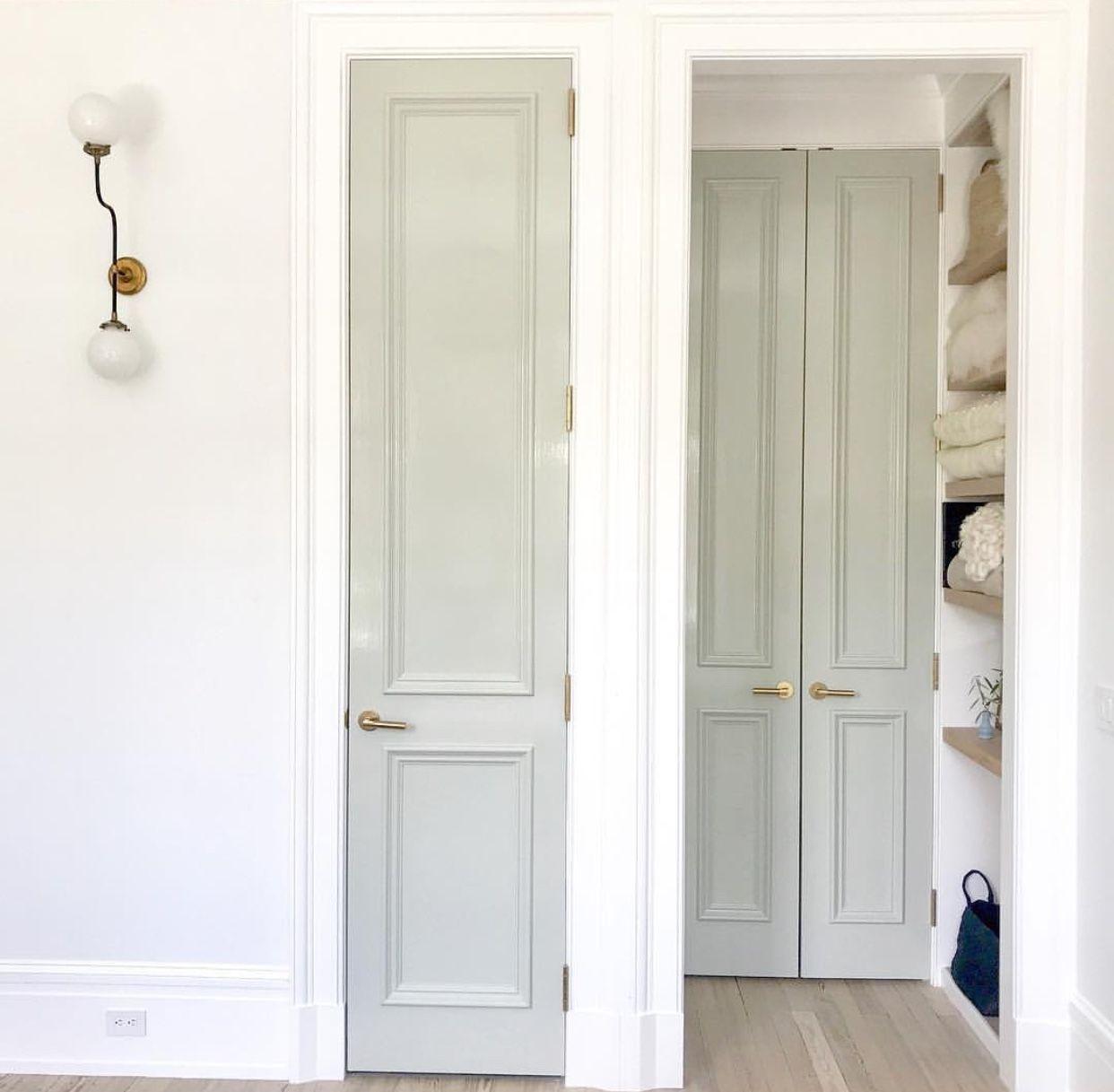 Doors Are Painted In Farrow Ball Mizzle Row House Narrow