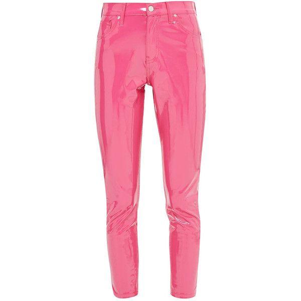 2acb3d86005b7 PVC Vinyl Leather Latex Pants Leggings Black, Red, Pink, Blue, White...  ($99) ❤ liked on Polyvore featuring pants, leather pants, stretch pants,  skinny ...