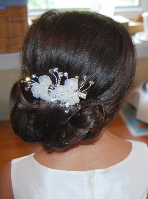 wedding up hair styles for a flower or communion with a flower 4678