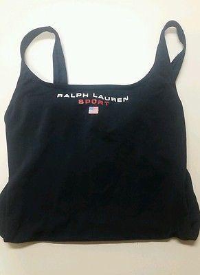 ralph lauren black and cream dress polo american flag bikini