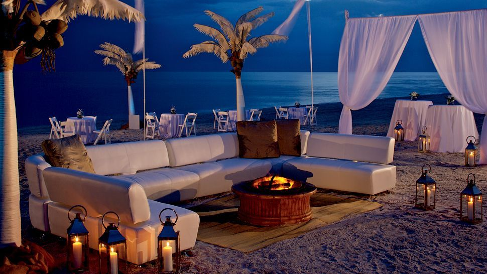 Fire on the beach -The Ritz-Carlton, Naples, Naples,  Florida #SunSandSea