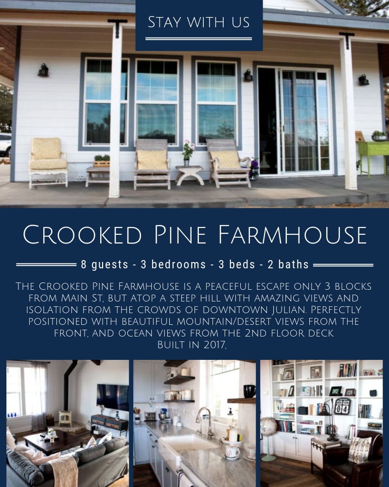 Crooked Pine Farm House In Julian Ca Renting A House Farmhouse Style House Farmhouse