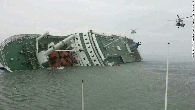 Ship went down in South Korea, nearly 300 people still missing