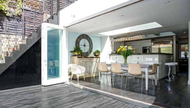 moderne einrichtung wohnzimmer design wanduhr xxl wanddeko - schöne wanduhren wohnzimmer
