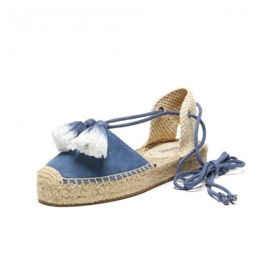 Tassel Embellished Suede Platform Gladiator Sandal