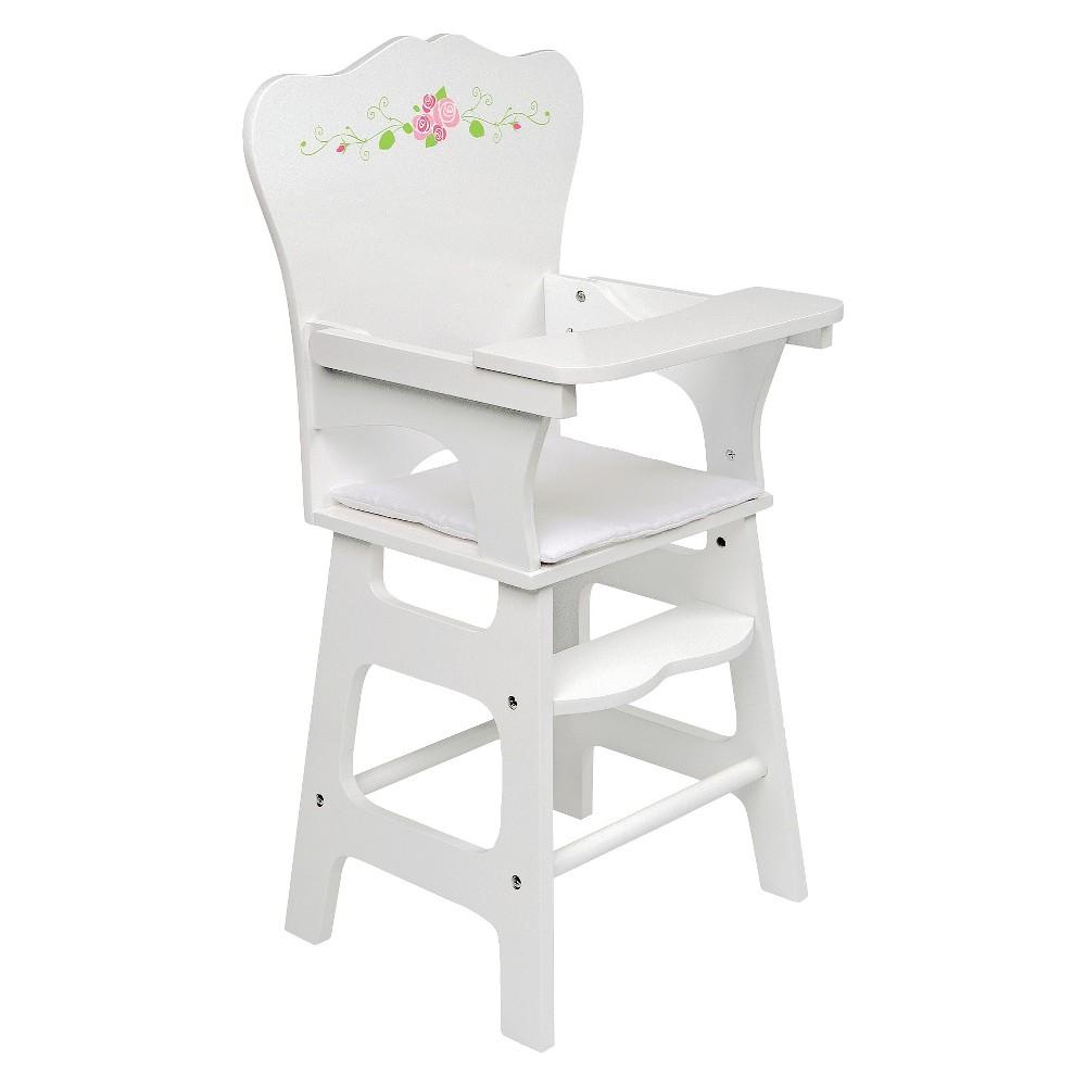 Badger Basket White Rose Doll High Chair Doll High Chair Chair