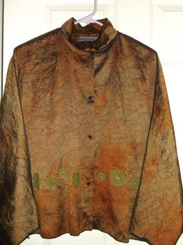 Deborah Cross Boutique Couture Art to Wear Jacket Top Medium | eBay