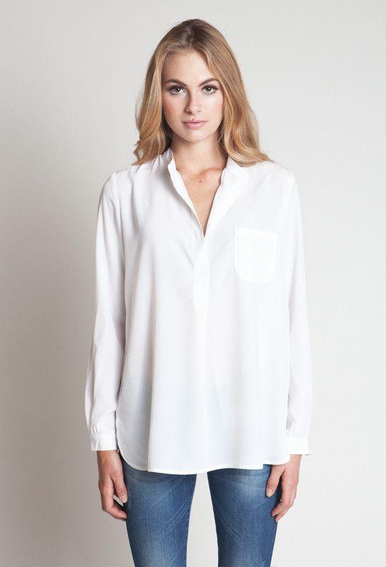 b050ed72572c5c White Bohemian Blouse // Anine Bing | Style Inspo. | Bohemian ...