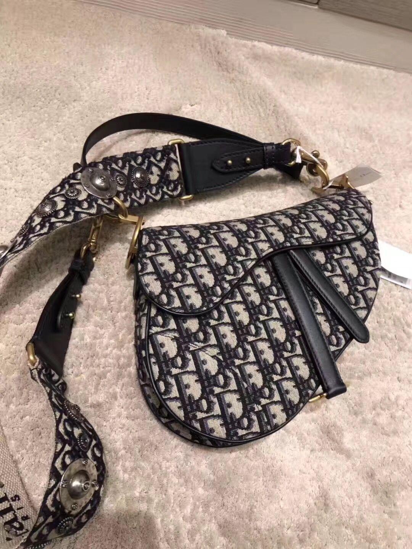 15c96434f761 Authentic Dior Mini Saddle Bag Blue -  475.00