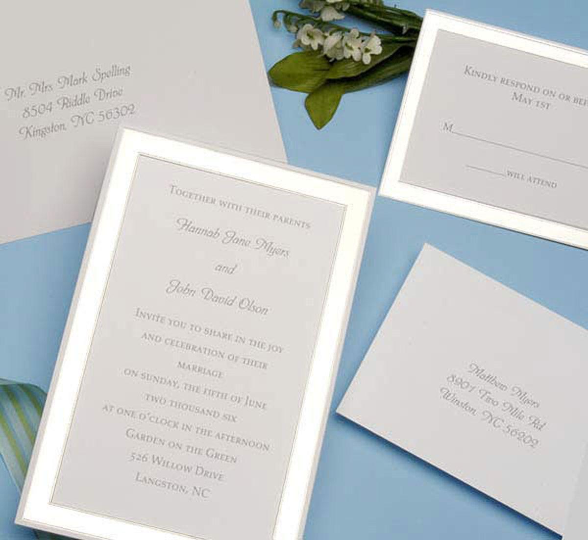 Platinum Border Printable Invitation Kit #Platinum wedding ...