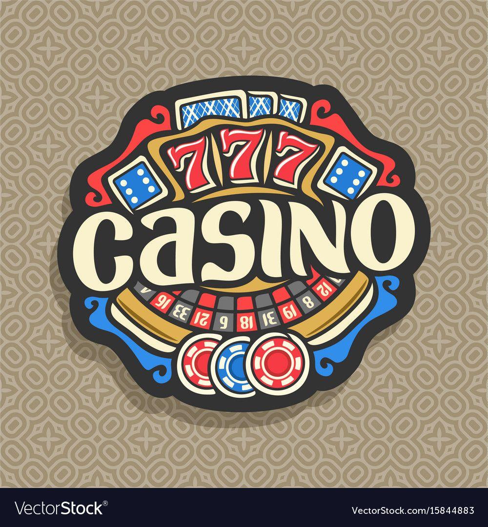 Logo for casino vector image on VectorStock Casino