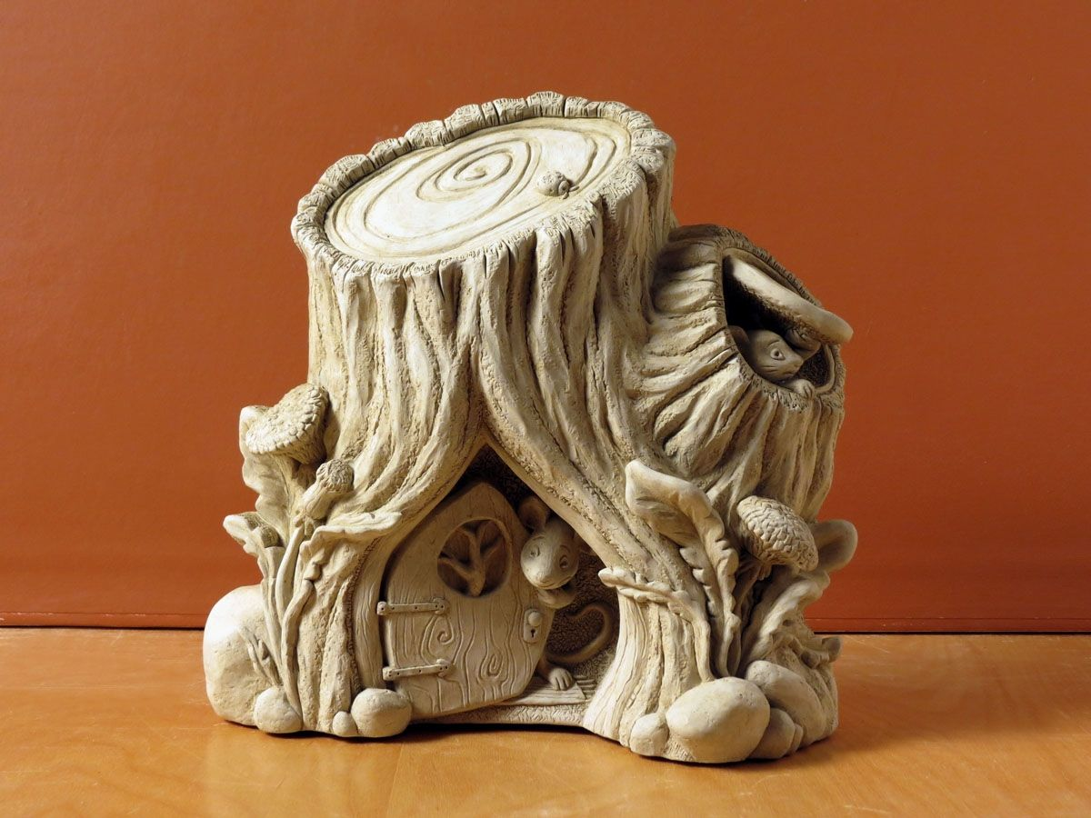 N21 Australian handmade Australian fairy house gift garden decoration in ceramicpottery