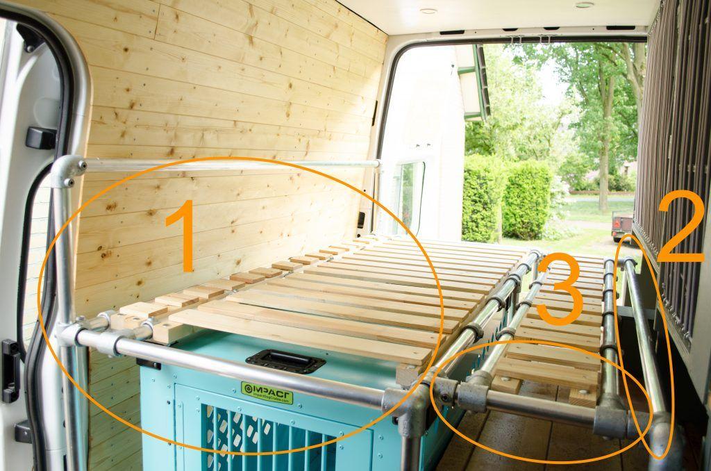 Camper van conversion how to build a sofa bed