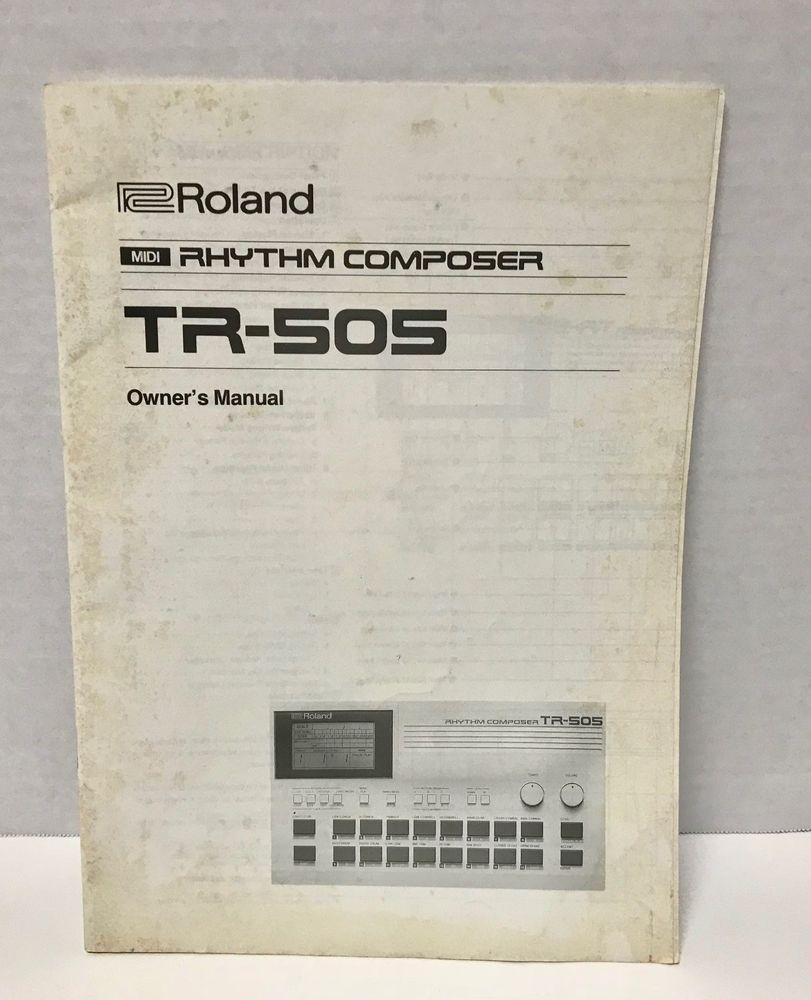 original roland rhythm composer tr 505 drum machine owners manual rh pinterest com roland owner's manual roland a33 owner's manual