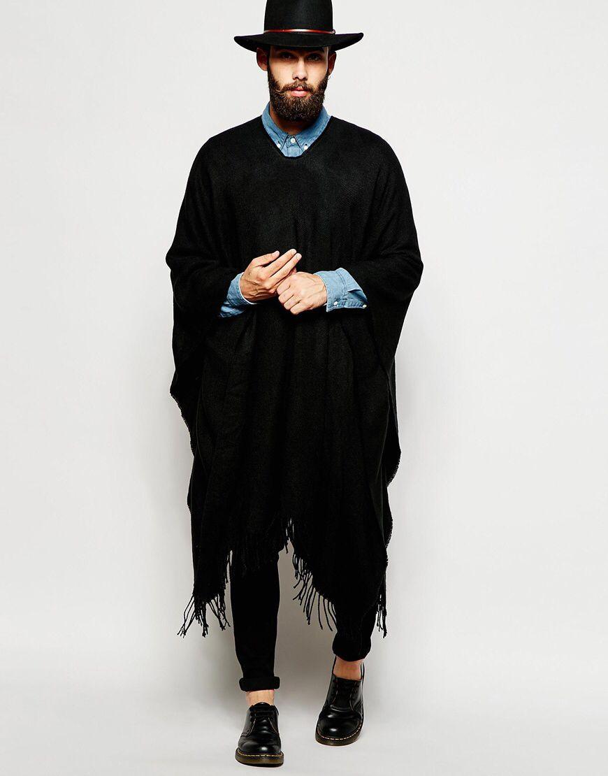 le poncho la pi ce parfaite pour lutter contre le froid men fashion style menstyle outfit. Black Bedroom Furniture Sets. Home Design Ideas