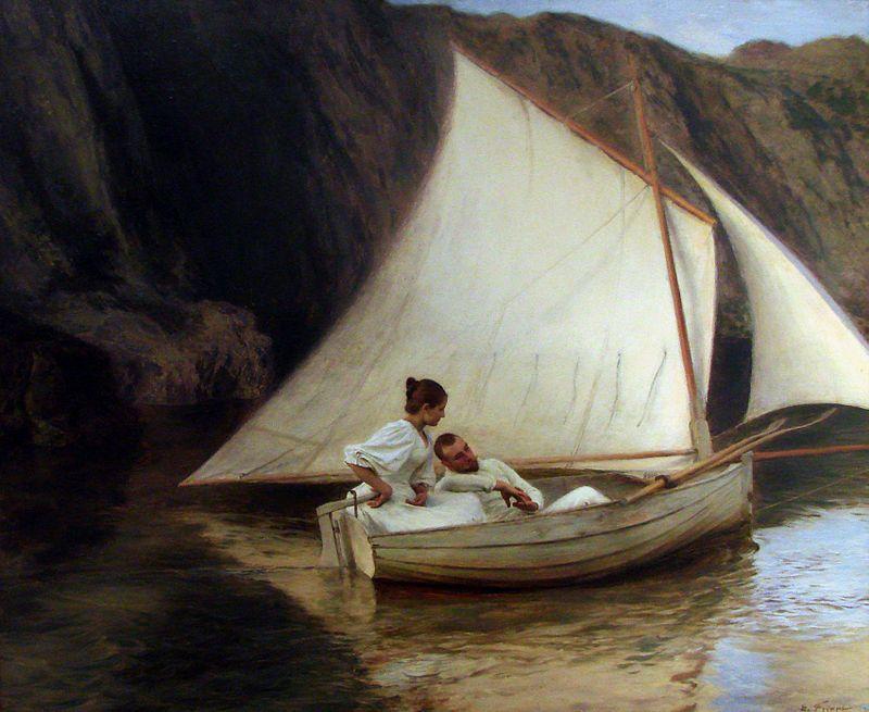 La petite barque - Émile Friant