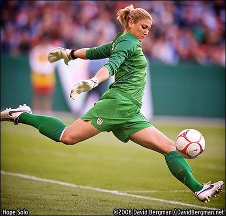 Hope Solo USA Football Goal Keeper.
