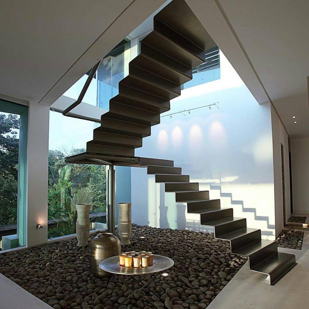 Gambar Desain Tangga Rumah Minimalis Mewah Terbaru ...
