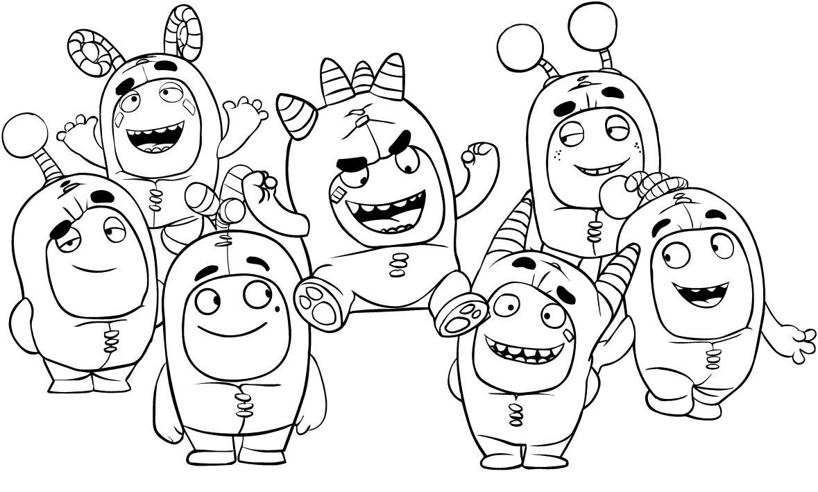 10 Coloring Page Oddbods Puppy Coloring Pages Bear Coloring Pages Coloring Books