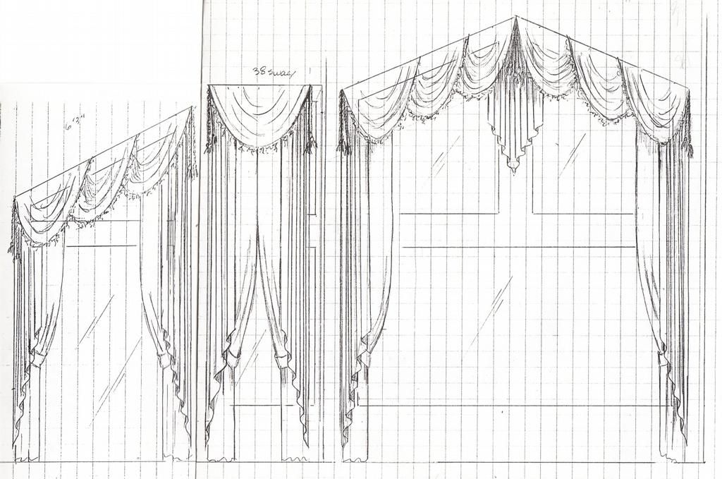 Working out the details on paper...before the workroom cuts the fabric. provided by Accessory to Design - Interiors - Benson 85602