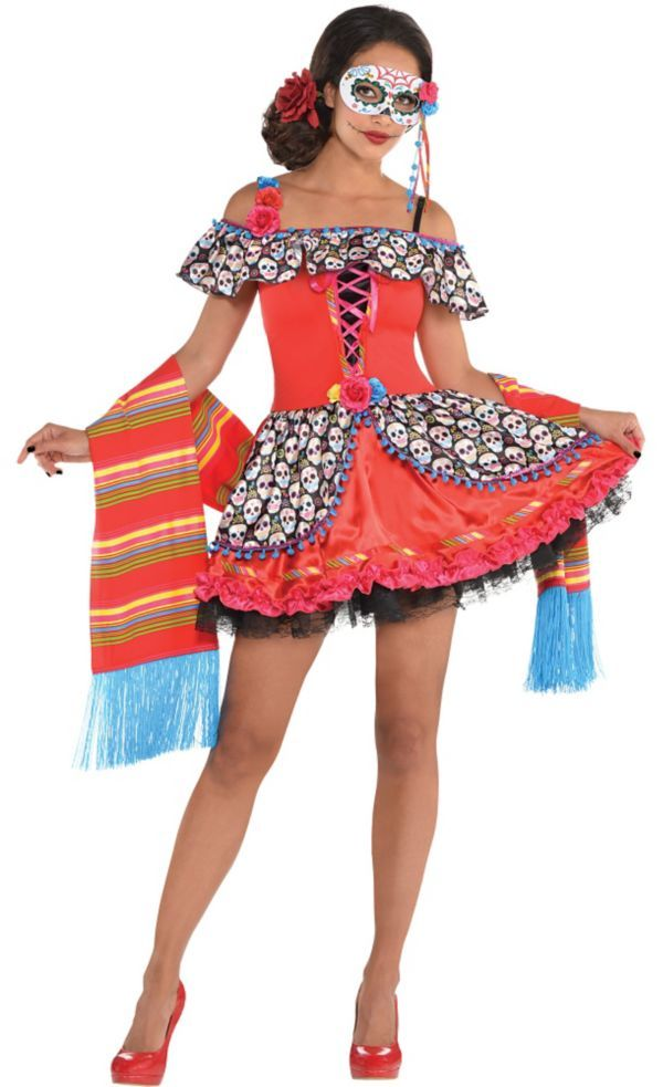 2df71348701 Adult Senorita Sugar Skull Costume | halloween | Sugar ...