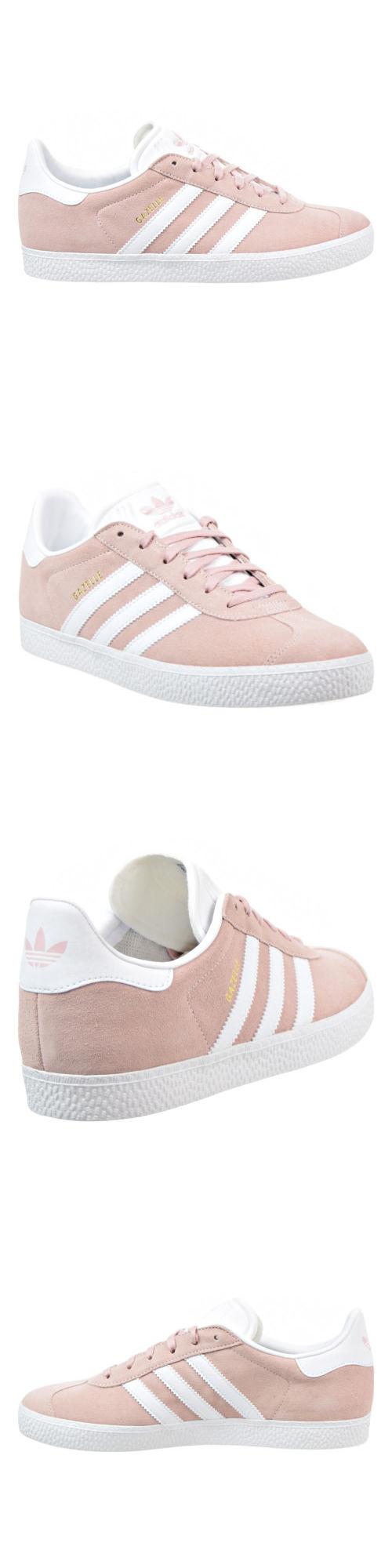 Unisex Shoes 155202  Adidas Gazelle J Big Kids Shoes Ice-Pink Gold White  By9544 5838e2379