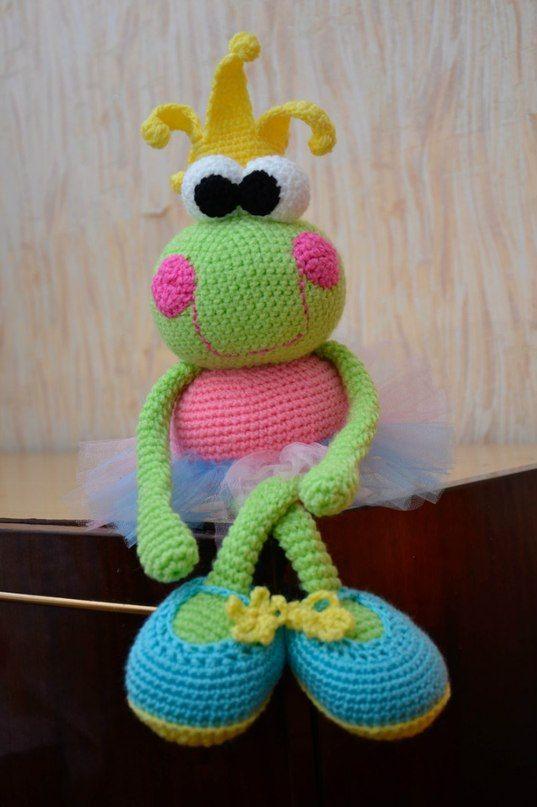 Frosch Prinzessin häkeln | BONECA CROCHE | Pinterest | Prinzessin ...